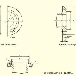 ASME ANSI B166.5A法兰尺寸